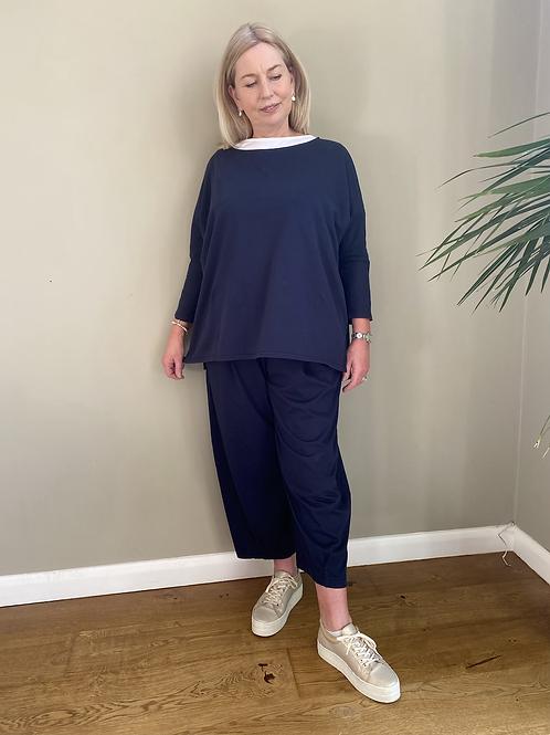 Mama B Bianco Pant Blu
