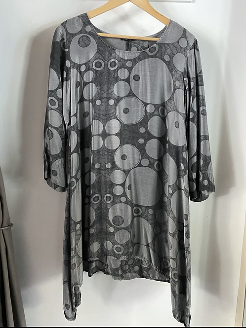 Grizas Silk/Bamboo Circle Print Tunic