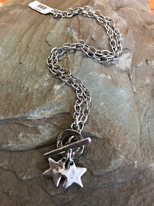 Danon Double Star Necklace N5280