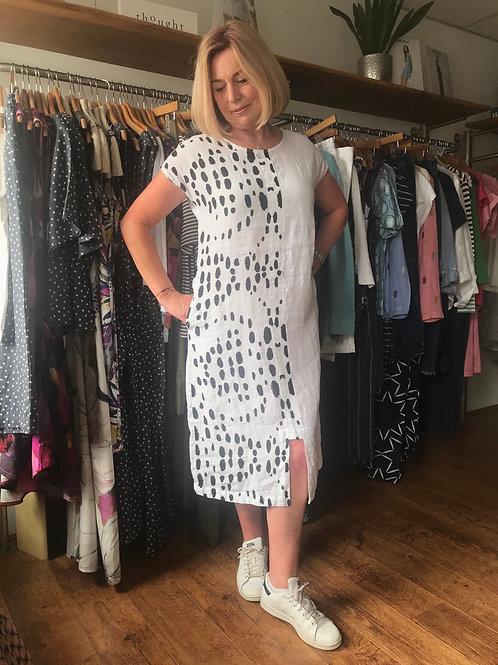 Grizas Linen Spot Dress
