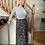 Thumbnail: Black Colour Luna Bias Skirt with Pockets - Coco Black