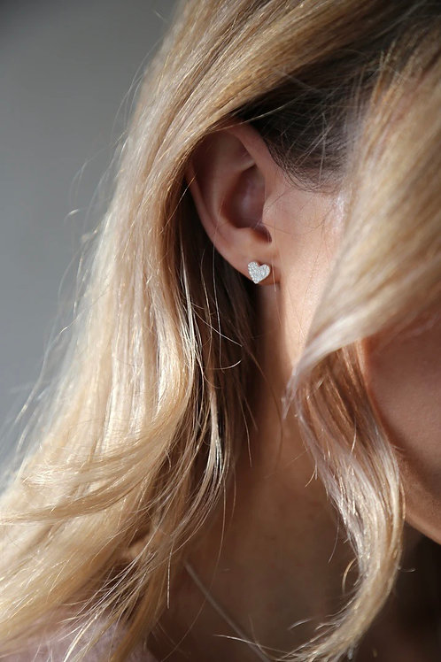 Tutti & Co Heart Stud Earrings