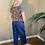 Thumbnail: Peruzzi Navy Linen Trousers