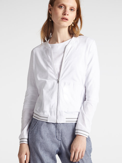 Sandwich White Jersey Zip Jacket