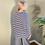 Thumbnail: Mama B Ruche Top Blu Stripe