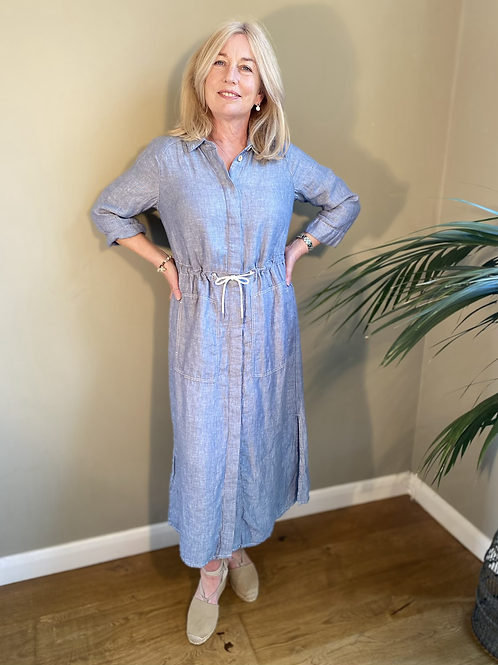 Sandwich Linen Dress