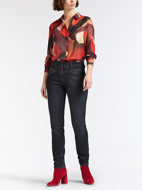 Sandwich Abstract Print Blouse