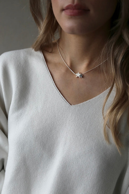 Tutti & Co Silver Starlight Necklace