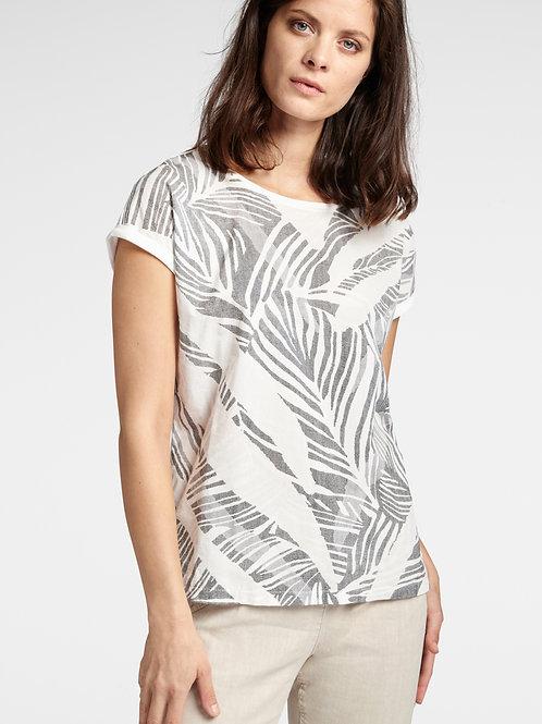 Sandwich Leaf Print T Shirt