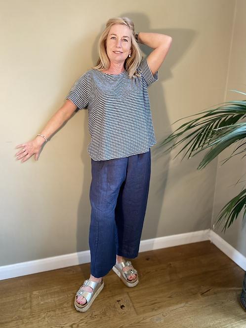 Peruzzi Charcoal Linen Trousers