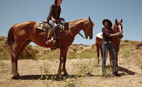 Rock Revival Women's Shot with Horses