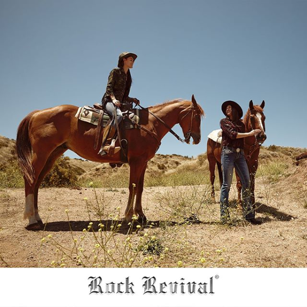 Rock Revival Women's Shot with Horses