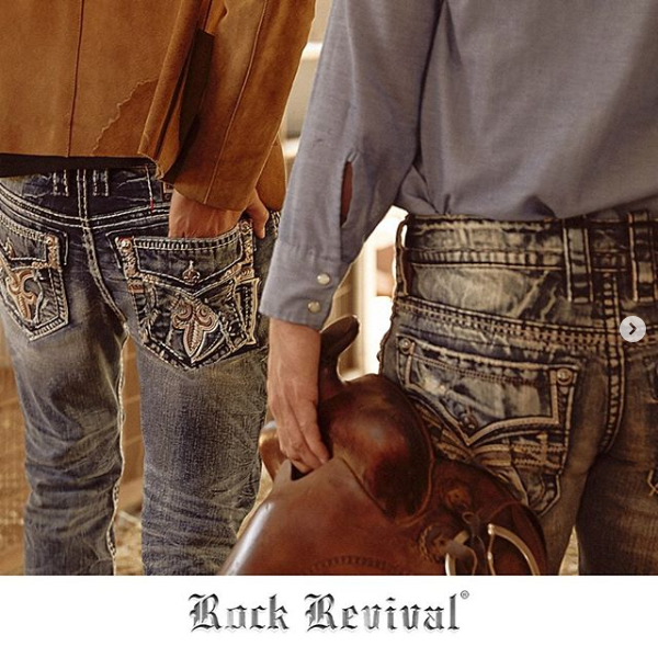 Rock Revival Jean Shot with Prop Saddle