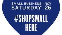 Small Business Saturday, Nov. 26th
