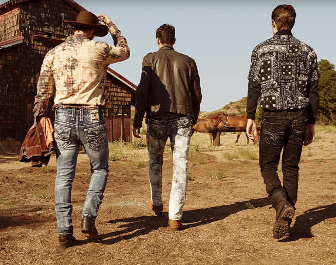 Rock Revival Men's Jeans with Horses
