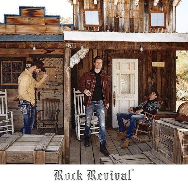 Rock Revival Men's Shot in front Hotel S