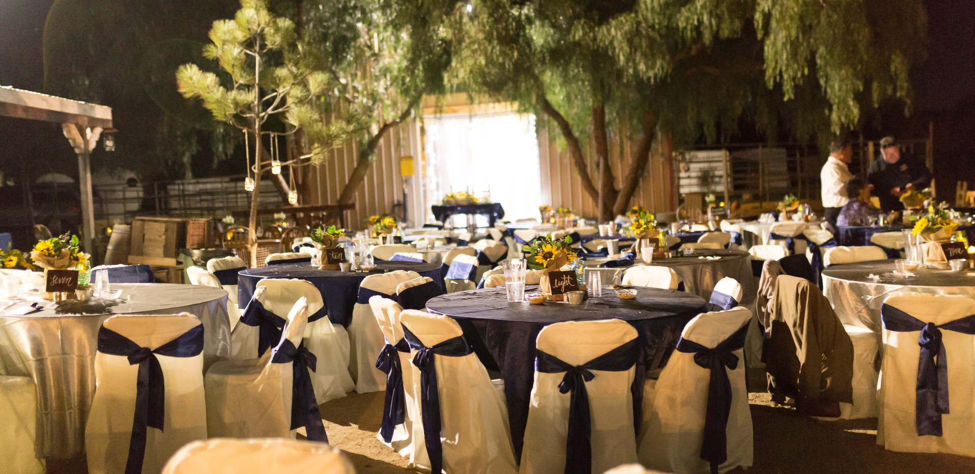 Table Set Up with Barn