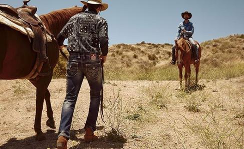 Rock Revival Men's Shot with Horses