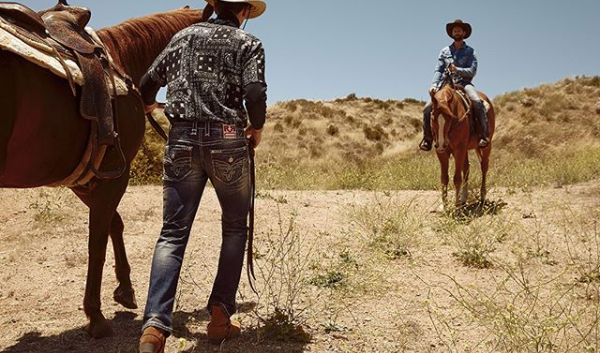Rock Revival Men's Shot with Horses