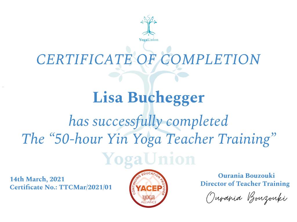 50h Yin Yoga Teacher Training