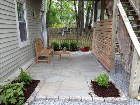 Bluestone entrance patio
