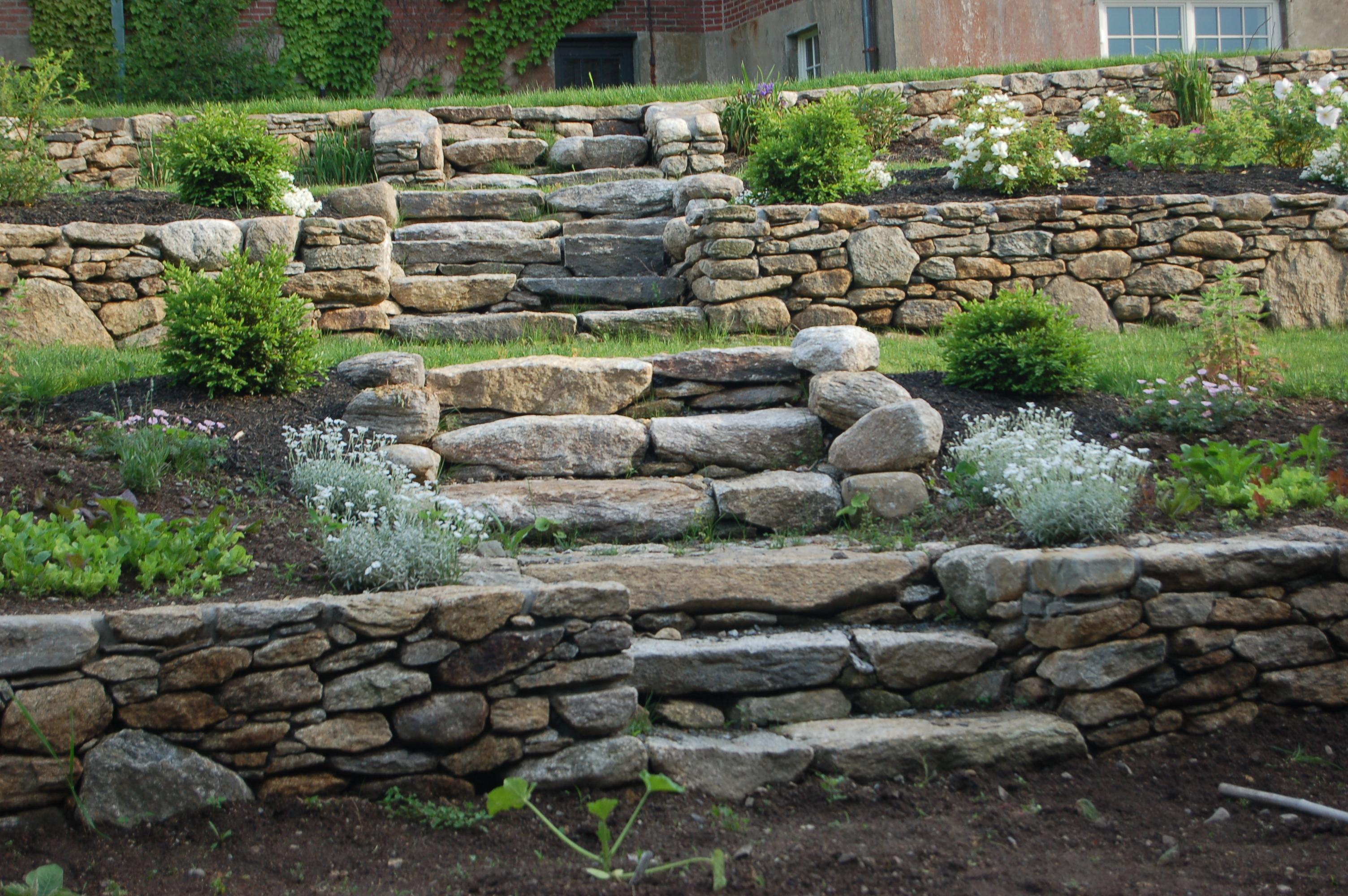 TerracedHilltop fieldstone steps