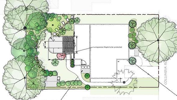 Landscape plan | Rue Sherwood Landscape Design
