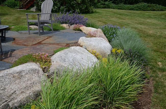 Essex MA stone patio landscaping