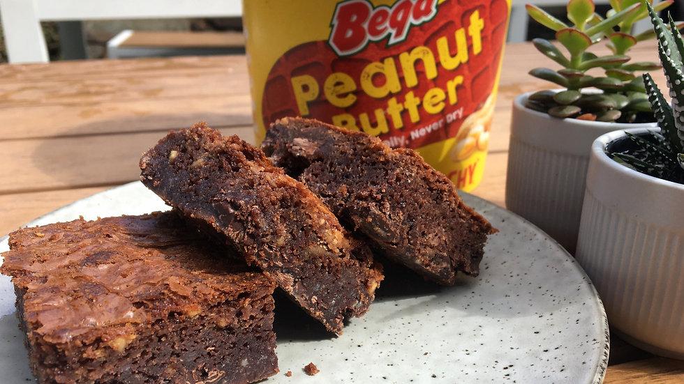GLUTEN FREE Peanut Butter, Maple Chocolate Brownie
