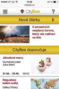 Mobilní verze CityBee