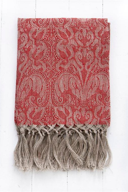 HAND KNOTTED LINEN TOWEL GIGLIO