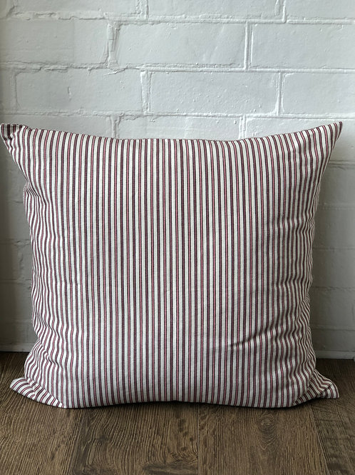 CUSHION IN STRIPE/DIAMOND COLOUR WINE