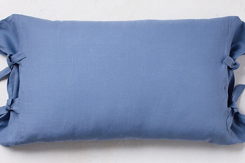 URANO SIDE TIE PILLOWCASE - SET OF 2. QUEEN SIZE.