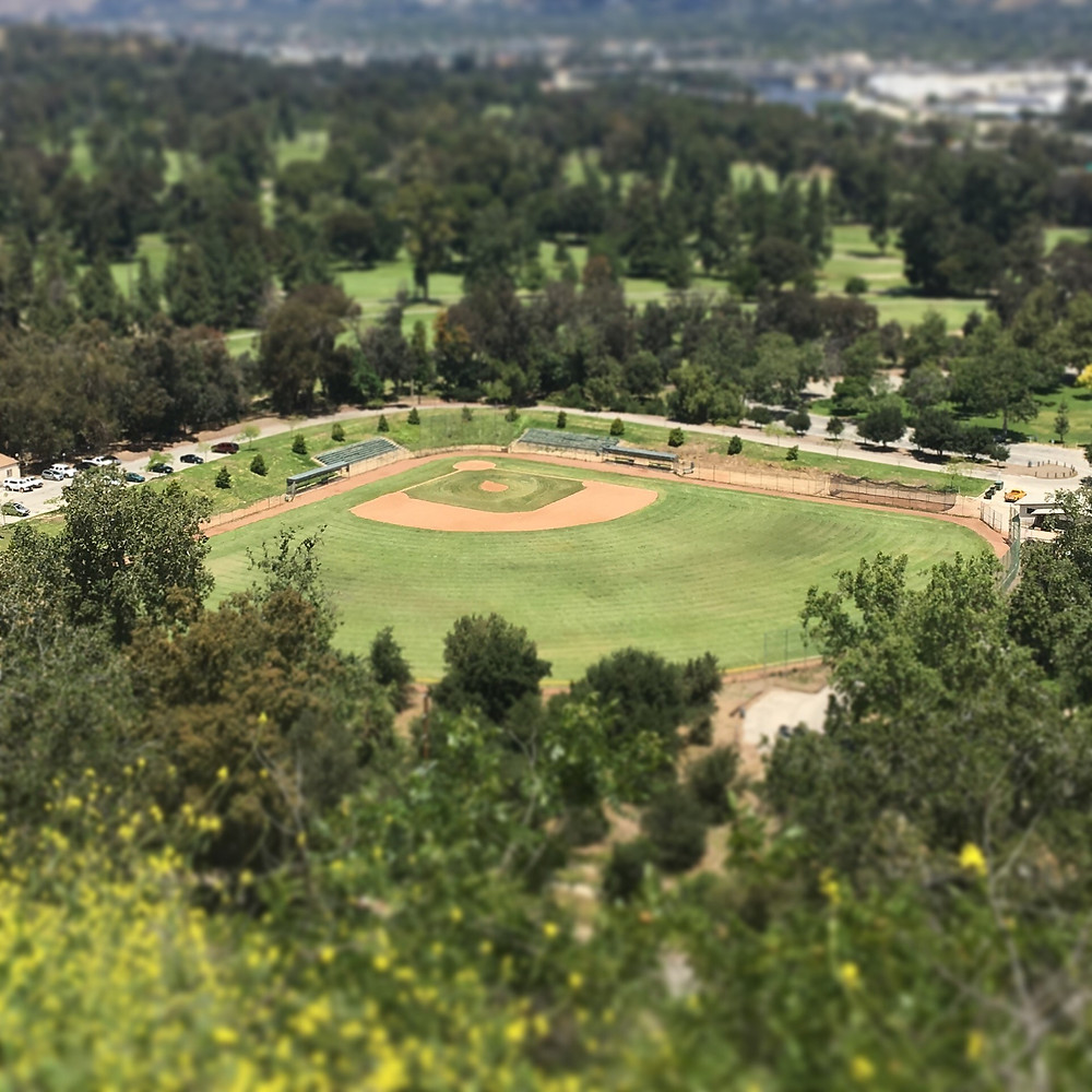 Pote Field as seen from Lower Beacon Trail at Griffith Park