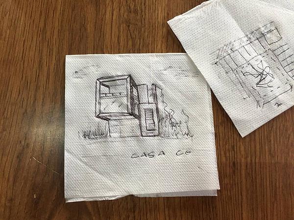 Sketch Fachada Casa CG