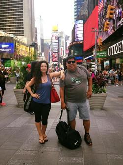 With Tony Ybarra before rehearsal