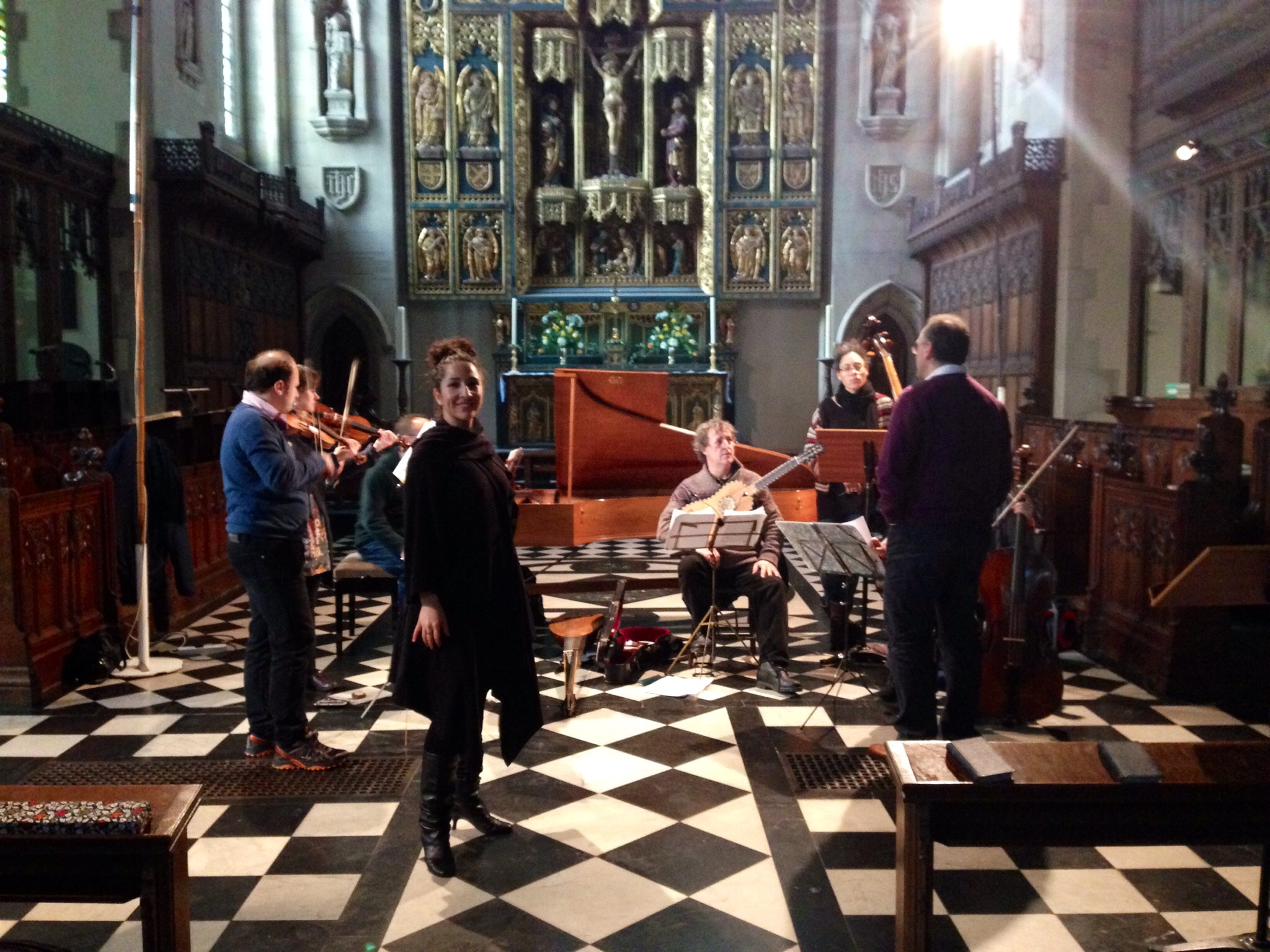 Bolivian Baroque Rehearsal, London
