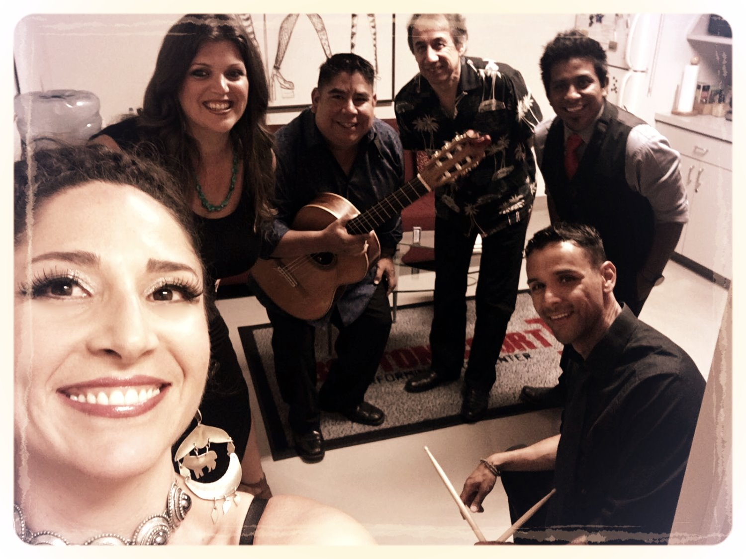 Backstage with my beautiful band...