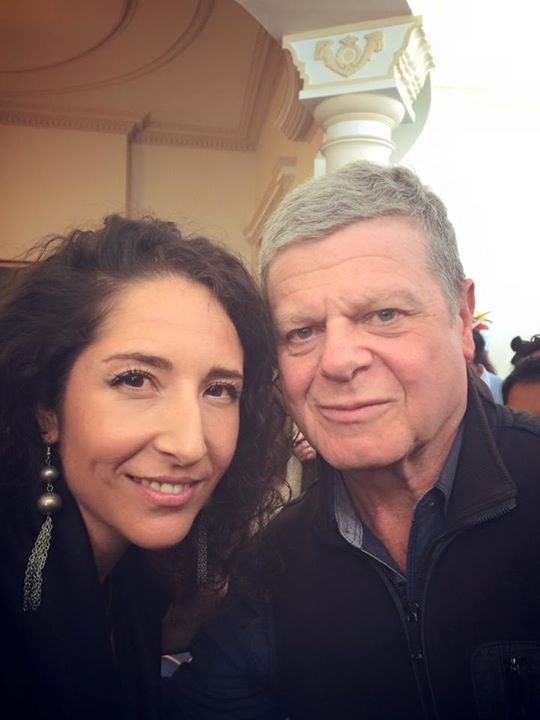 With Gustavo Santaolalla in Bolivia