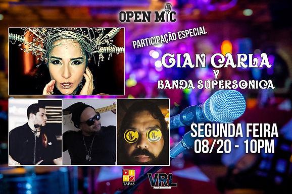 GIAN-CARLA + BANDA SUPERSONICA   10PM   VIVO TAPAS LOUNGE
