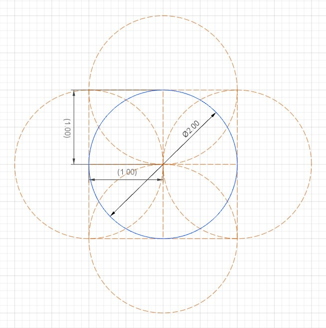 circle with the four squares