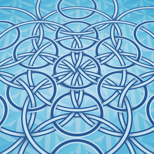 Metatron's Cube Artwork V, detail of artwork by LOSTefx.com