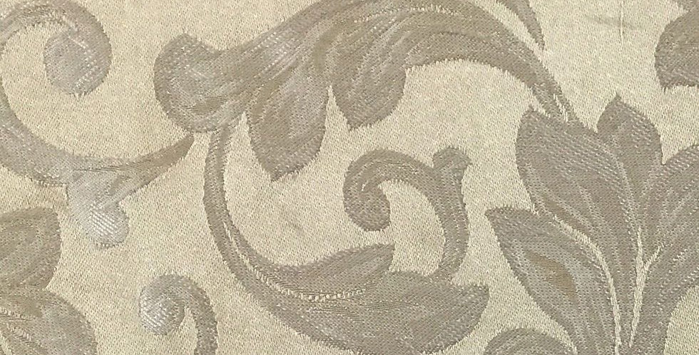 Cream and Light Gold Floral Silk