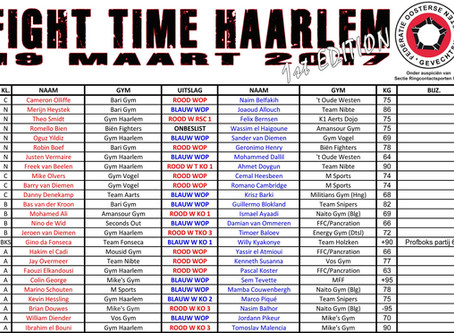 Results: Fight Time - Haarlem
