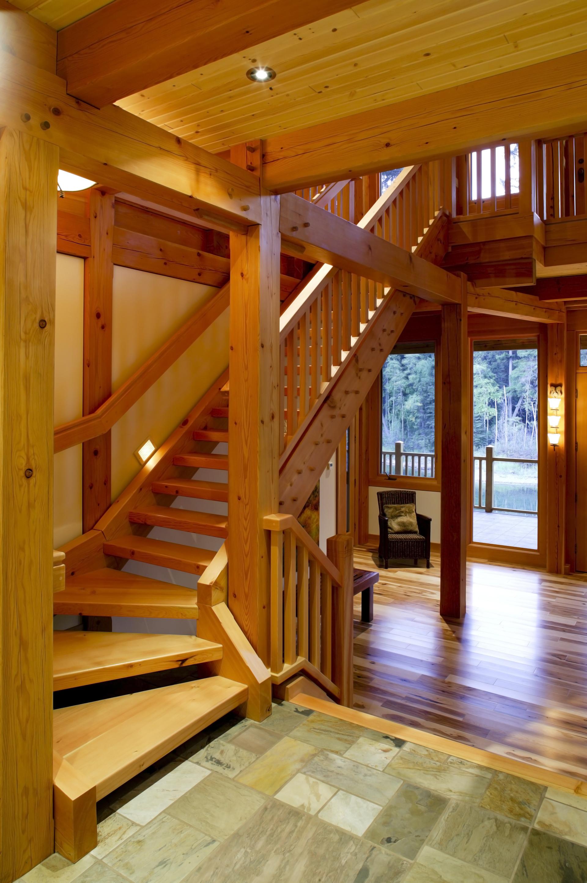Timberframe Stairs