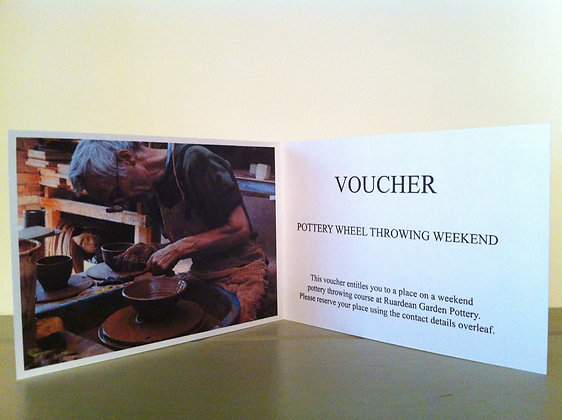 Half-Day Throwing Class Gift Voucher