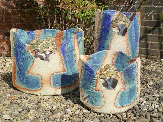 Blue Landscape Pots