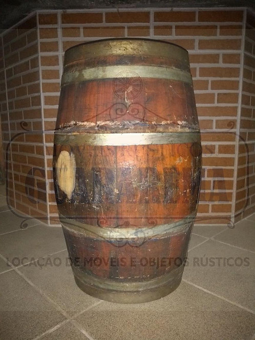 Barril de carvalho 40 litros (0,61m altura x 0,32m diâmetro).