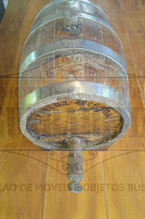 Barril de carvalho 5 litros para cachaça (vazio).