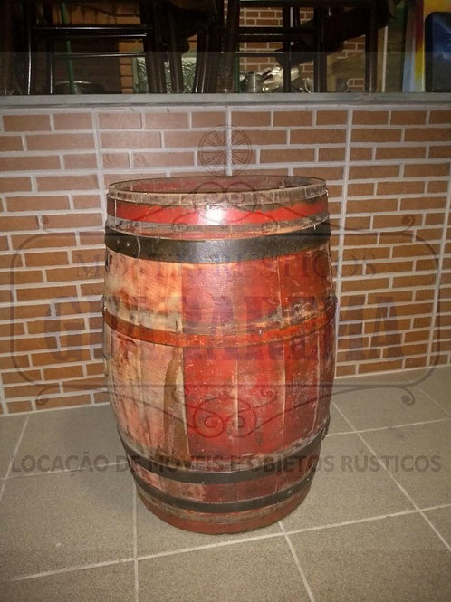 Barril de carvalho 100 litros (0,72m altura x 0,44m diâmetro).